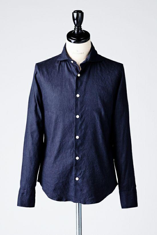 1piu1uguale3 PLAIN LINEN リネン shirts シャツ ホリゾンタル akm プレーン