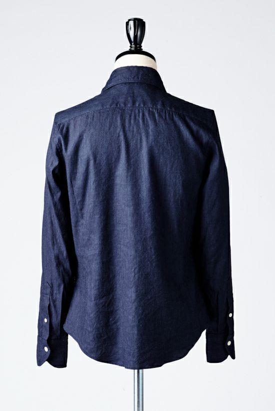 1piu1uguale3 PLAIN LINEN リネン shirts シャツ ホリゾンタル akm